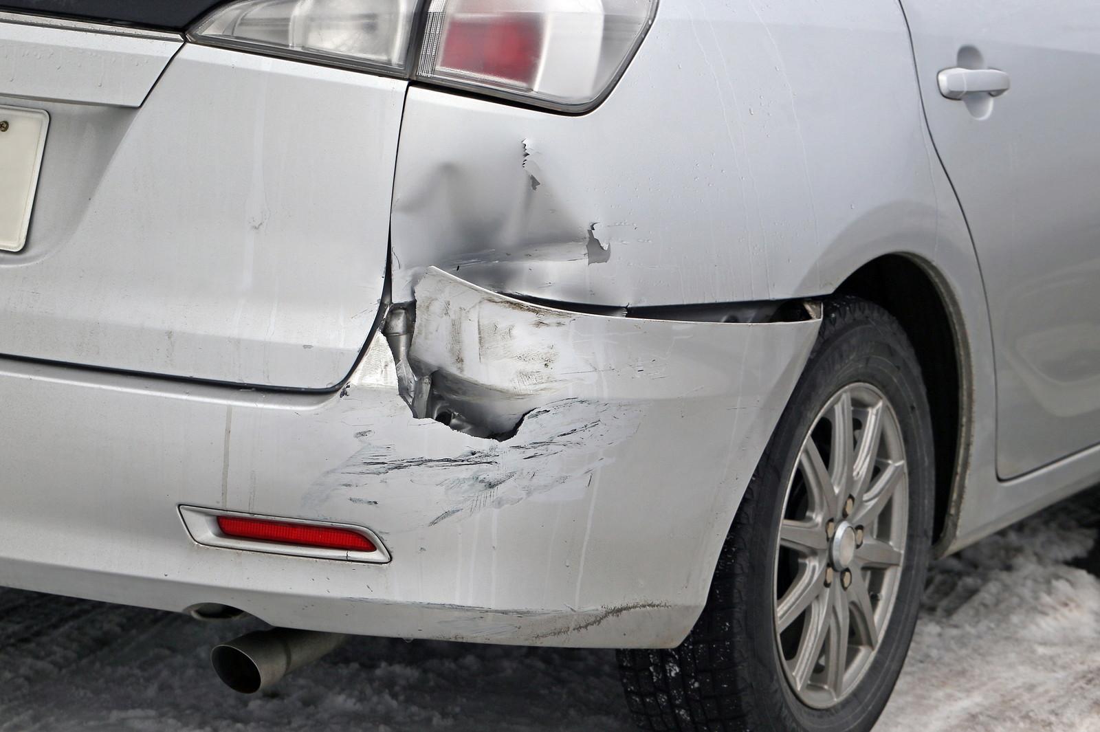 追突事故の画像